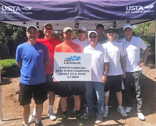 The Reserve at Lake Keowee Men's USTA Tennis Team Wins the SC State Championship
